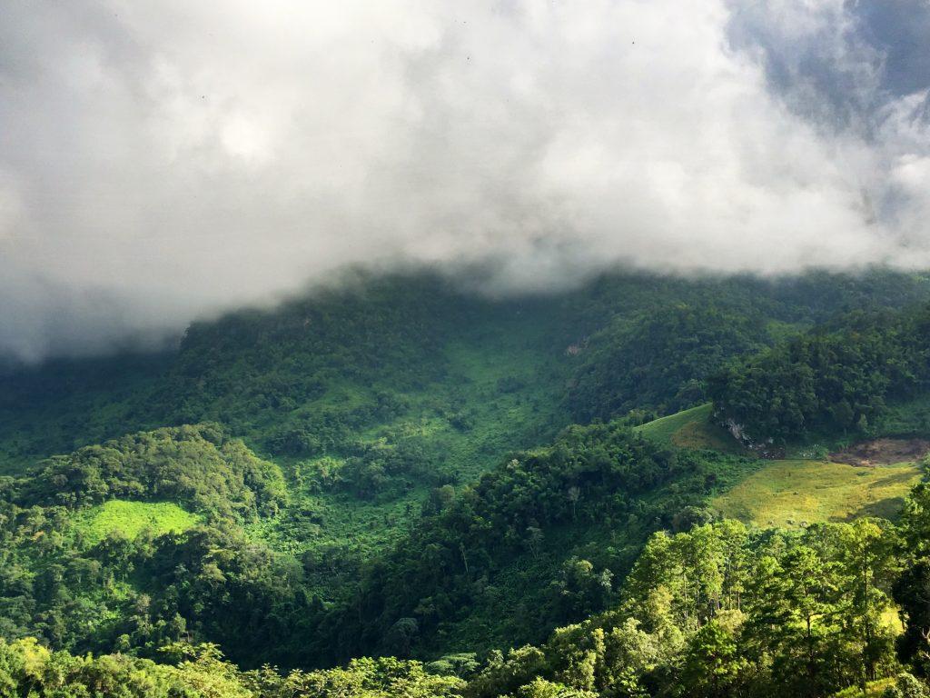 El parque natural de Chiang Dao, Norte de Tailandia.